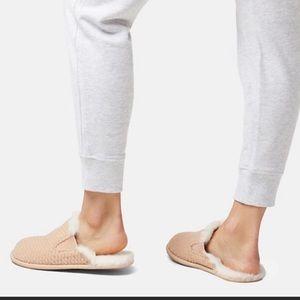 Sorel Hadley Faux fur lined slippers Size 8 tan
